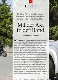 Titelbild der Ausgabe 8/2018 von Helden: Mit der Axt in der Hand. Zeitschriften als Abo oder epaper bei United Kiosk online kaufen.