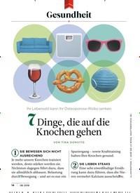 Titelbild der Ausgabe 8/2018 von Gesundheit: 7 Dinge, die auf die Knochen gehen. Zeitschriften als Abo oder epaper bei United Kiosk online kaufen.