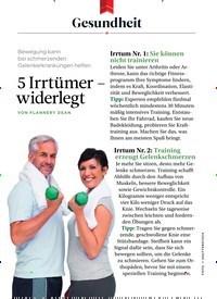 Titelbild der Ausgabe 10/2018 von Gesundheit: 5 Irrtümer – widerlegt. Zeitschriften als Abo oder epaper bei United Kiosk online kaufen.