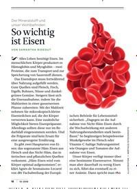 Titelbild der Ausgabe 10/2018 von Der Mineralstoff und unser Wohlbefinden: So wichtig ist Eisen. Zeitschriften als Abo oder epaper bei United Kiosk online kaufen.