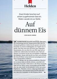 Titelbild der Ausgabe 11/2018 von Helden: Auf dünnem Eis. Zeitschriften als Abo oder epaper bei United Kiosk online kaufen.