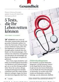 Titelbild der Ausgabe 2/2019 von Gesundheit: 5 Tests, die Ihr Leben retten können. Zeitschriften als Abo oder epaper bei United Kiosk online kaufen.
