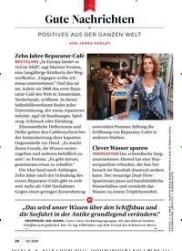 Titelbild der Ausgabe 2/2019 von Gute Nachrichten: POSITIVES AUS DER GANZEN WELT. Zeitschriften als Abo oder epaper bei United Kiosk online kaufen.