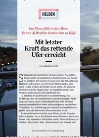 Titelbild der Ausgabe 4/2019 von HELDEN: Mit letzter Kraft das rettende Ufer erreicht. Zeitschriften als Abo oder epaper bei United Kiosk online kaufen.