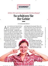 Titelbild der Ausgabe 4/2019 von GESUNDHEIT: So schützen Sie Ihr Gehör. Zeitschriften als Abo oder epaper bei United Kiosk online kaufen.