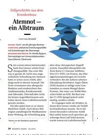 Titelbild der Ausgabe 4/2019 von Atemnot – ein Albtraum. Zeitschriften als Abo oder epaper bei United Kiosk online kaufen.