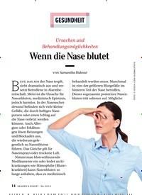 Titelbild der Ausgabe 6/2019 von GESUNDHEIT: Ursachen und Behandlungsmöglichkeiten: Wenn die Nase blutet. Zeitschriften als Abo oder epaper bei United Kiosk online kaufen.