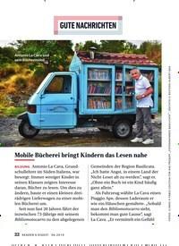 Titelbild der Ausgabe 6/2019 von GUTE NACHRICHTEN: Mobile Bücherei bringt Kindern das Lesen nahe. Zeitschriften als Abo oder epaper bei United Kiosk online kaufen.