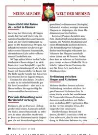 Titelbild der Ausgabe 7/2019 von NEUES AUS DER WELT DER MEDIZIN. Zeitschriften als Abo oder epaper bei United Kiosk online kaufen.