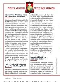 Titelbild der Ausgabe 8/2019 von NEUES AUS DER WELT DER MEDIZIN. Zeitschriften als Abo oder epaper bei United Kiosk online kaufen.