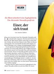 Titelbild der Ausgabe 10/2019 von HELDEN: Einer, der sich traut. Zeitschriften als Abo oder epaper bei United Kiosk online kaufen.