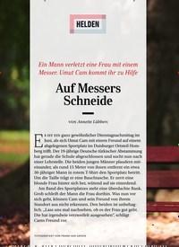 Titelbild der Ausgabe 11/2019 von HELDEN: Auf Messers Schneide. Zeitschriften als Abo oder epaper bei United Kiosk online kaufen.