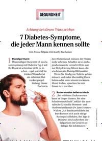 Titelbild der Ausgabe 11/2019 von GESUNDHEIT: 7 Diabetes-Symptome, die jeder Mann kennen sollte. Zeitschriften als Abo oder epaper bei United Kiosk online kaufen.