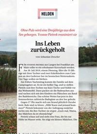 Titelbild der Ausgabe 1/2020 von HELDEN: Ins Leben zurückgeholt. Zeitschriften als Abo oder epaper bei United Kiosk online kaufen.
