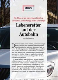 Titelbild der Ausgabe 7/2020 von HELDEN: Lebensretter auf der Autobahn. Zeitschriften als Abo oder epaper bei United Kiosk online kaufen.