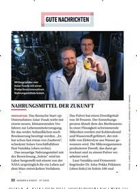 Titelbild der Ausgabe 7/2020 von GUTE NACHRICHTEN: NAHRUNGSMITTEL DER ZUKUNFT. Zeitschriften als Abo oder epaper bei United Kiosk online kaufen.