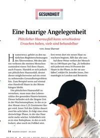 Titelbild der Ausgabe 9/2020 von GESUNDHEIT: Eine haarige Angelegenheit. Zeitschriften als Abo oder epaper bei United Kiosk online kaufen.
