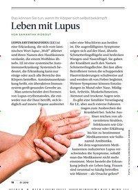 Titelbild der Ausgabe 1/2019 von READER' S DIGEST: Das können Sie tun, wenn Ihr Körper sich selbst bekämpft: Leben mit Lupus. Zeitschriften als Abo oder epaper bei United Kiosk online kaufen.