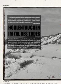 Titelbild der Ausgabe 3/2020 von death valley: HÖHLENTAUCHEN IM TAL DES TODES. Zeitschriften als Abo oder epaper bei United Kiosk online kaufen.