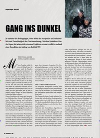 Titelbild der Ausgabe 3/2020 von reportage: eiszeit: GANG INS DUNKEL. Zeitschriften als Abo oder epaper bei United Kiosk online kaufen.