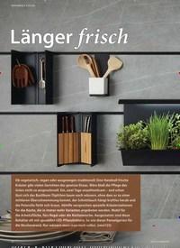 Titelbild der Ausgabe 2/2019 von WOHNWELT KÜCHE:Länger frisch. Zeitschriften als Abo oder epaper bei United Kiosk online kaufen.