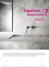 Titelbild der Ausgabe 4/2019 von Tapeten im Badezimmer ? Nein? Doch!. Zeitschriften als Abo oder epaper bei United Kiosk online kaufen.