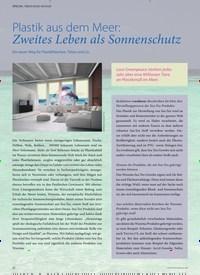 Titelbild der Ausgabe 2/2020 von SPECIAL: ÖKOLOGIE IM BAD: Plastik aus dem Meer: Zweites Leben als Sonnenschutz. Zeitschriften als Abo oder epaper bei United Kiosk online kaufen.
