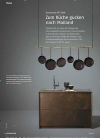 Titelbild der Ausgabe 4/2018 von Eurocucina / FKT 2018: Zum Küche gucken nach Mailand. Zeitschriften als Abo oder epaper bei United Kiosk online kaufen.