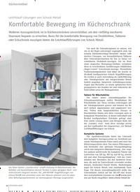 Titelbild der Ausgabe 8/2018 von Leichtlauf-Lösungen von Schock Metall: Komfortable Bewegung im Küchenschrank. Zeitschriften als Abo oder epaper bei United Kiosk online kaufen.