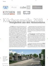 Titelbild der Ausgabe 9/2018 von Küchenmeile 2018: Neuigkeiten aus den Messezentren. Zeitschriften als Abo oder epaper bei United Kiosk online kaufen.