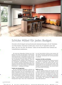 Titelbild der Ausgabe 9/2018 von Schicke Möbel für jedes Budget. Zeitschriften als Abo oder epaper bei United Kiosk online kaufen.