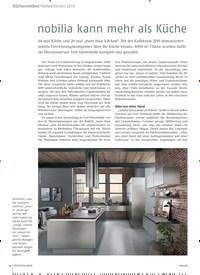 Titelbild der Ausgabe 12/2018 von Küchenmöbel / Kollektionen 2019: nobilia kann mehr als Küche. Zeitschriften als Abo oder epaper bei United Kiosk online kaufen.