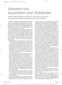 Titelbild der Ausgabe 2/2019 von Messe: Stimmen von Ausstellern und Verbänden. Zeitschriften als Abo oder epaper bei United Kiosk online kaufen.