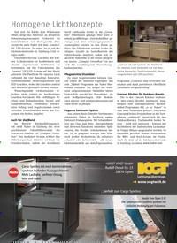 Titelbild der Ausgabe 4/2019 von Homogene Lichtkonzepte. Zeitschriften als Abo oder epaper bei United Kiosk online kaufen.