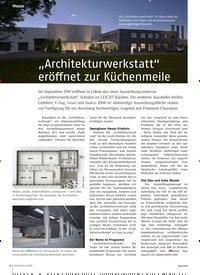 """Titelbild der Ausgabe 4/2019 von """"Architekturwerkstatt"""" eröffnet zur Küchenmeile. Zeitschriften als Abo oder epaper bei United Kiosk online kaufen."""