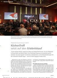 Titelbild der Ausgabe 4/2019 von Mitgliederversammlung in Berlin: KüchenTreff setzt auf den Erlebniskauf. Zeitschriften als Abo oder epaper bei United Kiosk online kaufen.