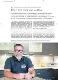 Titelbild der Ausgabe 9/2019 von BMK initiiert Zertifizierung für den Küchenfachhandel: Neutraler Blick von außen. Zeitschriften als Abo oder epaper bei United Kiosk online kaufen.