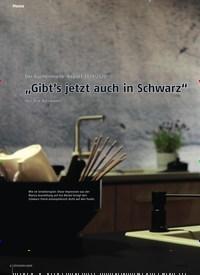 """Titelbild der Ausgabe 11/2019 von Der Küchenmeile-Report 2019/2020: """"Gibt's jetzt auch in Schwarz"""". Zeitschriften als Abo oder epaper bei United Kiosk online kaufen."""
