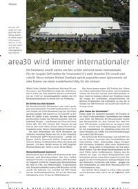 Titelbild der Ausgabe 11/2019 von area30 wird immer internationaler. Zeitschriften als Abo oder epaper bei United Kiosk online kaufen.