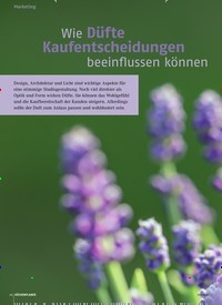 Titelbild der Ausgabe 2/2020 von Wie Düfte Kaufentscheidungen beeinflussen können. Zeitschriften als Abo oder epaper bei United Kiosk online kaufen.
