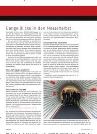 Titelbild der Ausgabe 6/2020 von Bange Blicke in den Messeherbst. Zeitschriften als Abo oder epaper bei United Kiosk online kaufen.