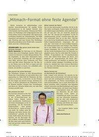 """Titelbild der Ausgabe 8/2018 von Interview: """"Mitmach-Format ohne feste Agenda"""". Zeitschriften als Abo oder epaper bei United Kiosk online kaufen."""