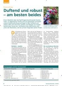 Titelbild der Ausgabe 6/2018 von Rosenumfrage: Duftend und robust – am besten beides. Zeitschriften als Abo oder epaper bei United Kiosk online kaufen.