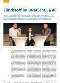 Titelbild der Ausgabe 6/2018 von Deutsche Baumpflegetage in Augsburg: Zündstoff im BNatSchG, § 40. Zeitschriften als Abo oder epaper bei United Kiosk online kaufen.
