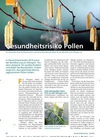 Titelbild der Ausgabe 6/2018 von Gesundheitsrisiko Pollen. Zeitschriften als Abo oder epaper bei United Kiosk online kaufen.