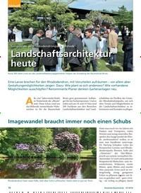 Titelbild der Ausgabe 7/2018 von Symposium im Rhododendronpark Gristede: Landschaftsarchitektur heute. Zeitschriften als Abo oder epaper bei United Kiosk online kaufen.