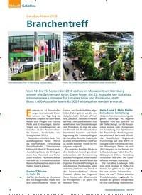 Titelbild der Ausgabe 9/2018 von GaLaBau Messe 2018: Branchentreff. Zeitschriften als Abo oder epaper bei United Kiosk online kaufen.
