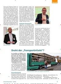 """Titelbild der Ausgabe 12/2018 von Droht der """"Transportinfarkt""""?. Zeitschriften als Abo oder epaper bei United Kiosk online kaufen."""