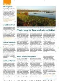 Titelbild der Ausgabe 1/2019 von Förderung für Moorschutz-Initiative. Zeitschriften als Abo oder epaper bei United Kiosk online kaufen.