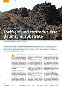 Titelbild der Ausgabe 1/2019 von Torf- und Humustag, Teil II: Torffreie und torfreduzierte Baumschulsubstrate. Zeitschriften als Abo oder epaper bei United Kiosk online kaufen.